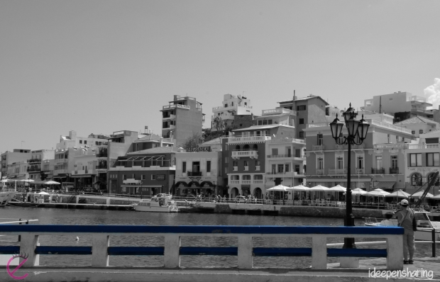 Vista dal porto di Agios Nikolaos