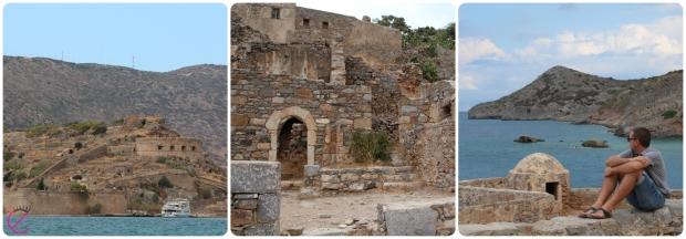 Vista e dettagli dell'Isola di Spinalonga