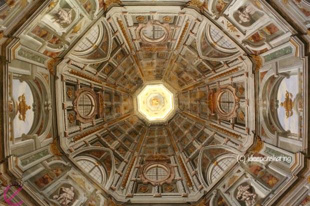 La volta ottagonale della Chiesa della Beata Vergine Incoronata